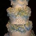 Five Tear Monogram Wedding Cake