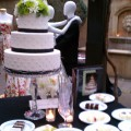 Pearls and Solids Wedding Cake