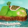 Pebble Beach 7th Hole Cake