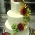 Rose Spiral Wedding Cake