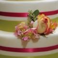 Roses & Solids Wedding Cake