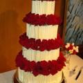 White Chocolate Crinkle Wedding Cake