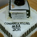 MBA Graduation Cake