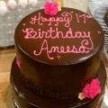 Chocolate and Pink Birthday Cake
