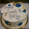 Blue and Gold Birthday Cake