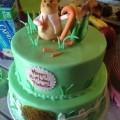 Bunny Garden 2nd Birthday Cake