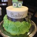 Flower Ruffle Baby Shower Cake