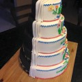 Floral and Batman Tiered Cake