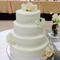 Silver Lace Wedding Cake